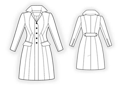 free sewing pattern lab coat waisted coat sewing pattern 4298 made to measure