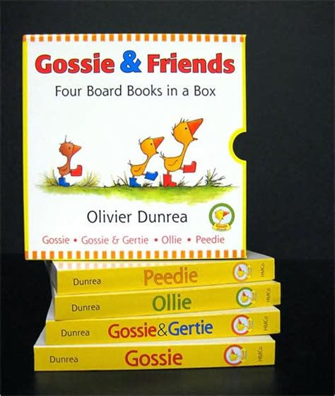 libro gossie padded board book gossie and friends board book set by olivier dunrea