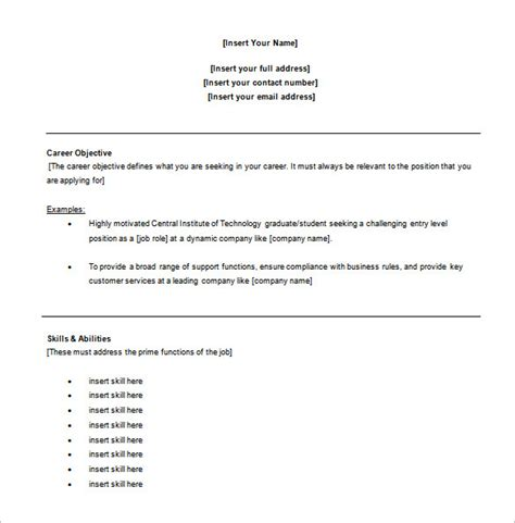 free resume templates for customer service 10 customer service resume templates doc pdf excel