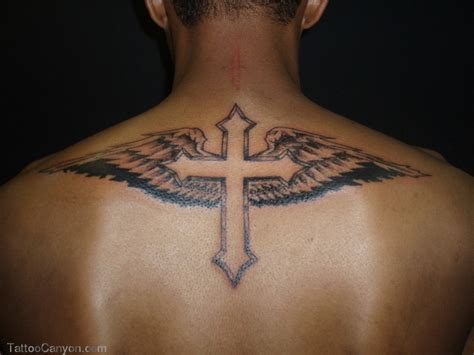 upper back cross tattoos cross images designs