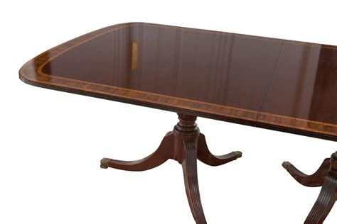 Sheraton Style Dining Table Sheraton Style Pedestal Mahogany Dining Table At 1stdibs