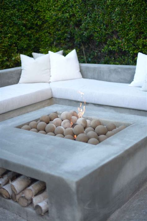 outdoor firepit seating 25 best ideas about concrete pits on