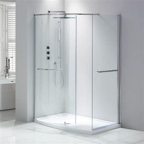 Frontline Aquaglass Closing Walk In Shower Enclosure Walk In Shower Enclosures For Small Bathrooms