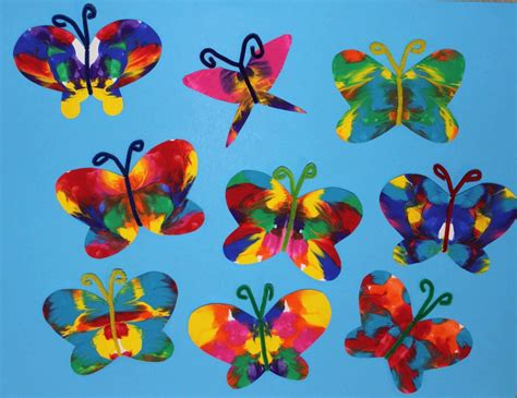 butterfly craft for symmetrical painted butterfly craft the end in mind