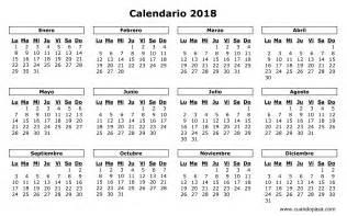 Dominica Calendã 2018 Calendario 2018