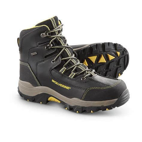 wolverine hiking boots s wolverine 174 6 quot waterproof bucklin hiking boots black