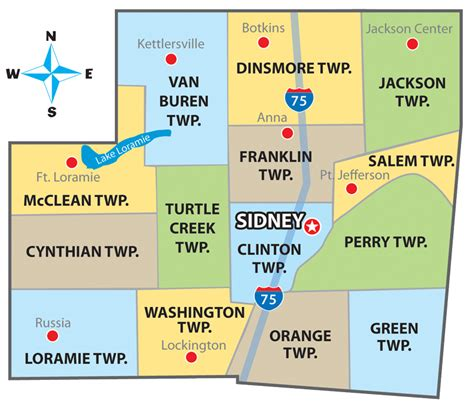shelby township map township map welcome to shelby county ohio