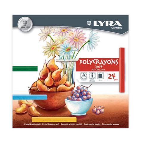 Crayon 24 Warna Giotto Lyra pastelli asciutti lyra polycrayons set24