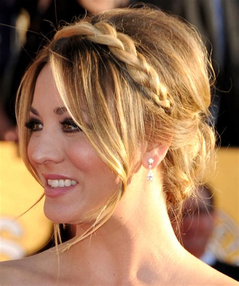 Kaley Cuoco Updo Haircut | kaley cuoco updo long straight formal updo hairstyle