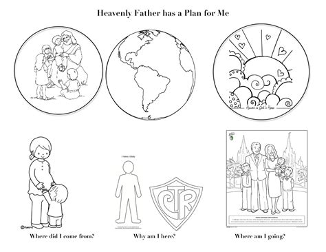 Plan Of Salvation Coloring Page lds plan of salvation coloring page coloring pages