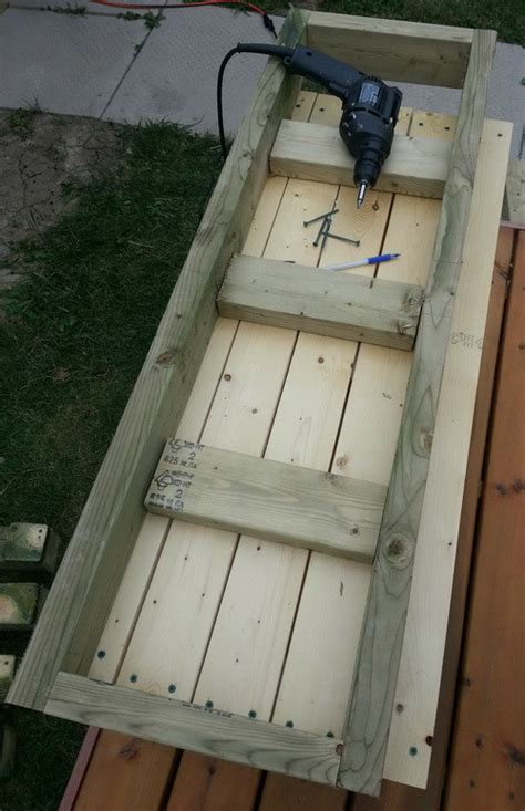 how to make a patio bench how to build a simple patio deck bench out of wood step by
