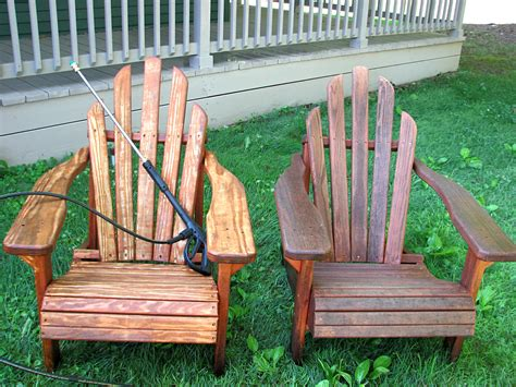 Staining Adirondack Chairs by Re Staining Adirondack Chairs Living Rich On Lessliving