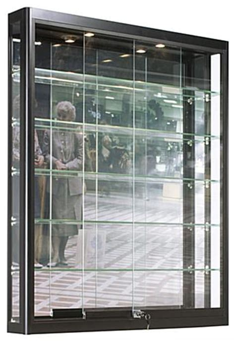 Wall LED Display Case   Matte Black Finish