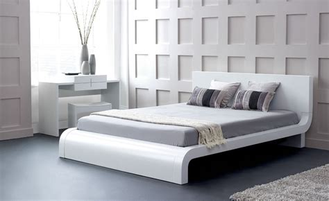modern white bed modern platform bed