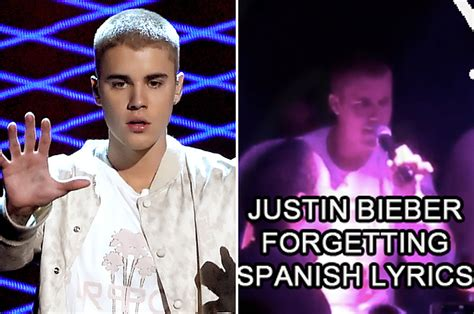 justin bieber biography in spanish justin bieber forgot the spanish lyrics to his song and