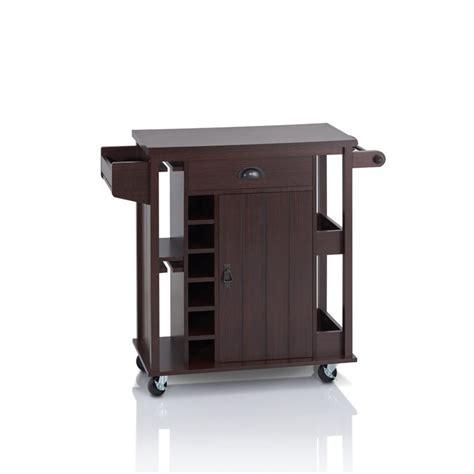 kitchen carts house furniture furniture of america frunter kitchen cart in espresso