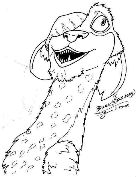 ice age rudy coloring pages coloring pages