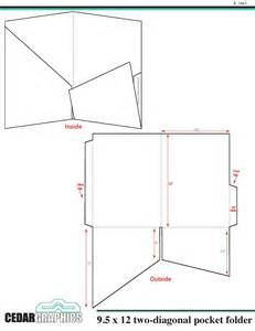 Folder Template by Pocket Folder 9 5 Quot X 12 Quot Two Diagonal Pocket Template
