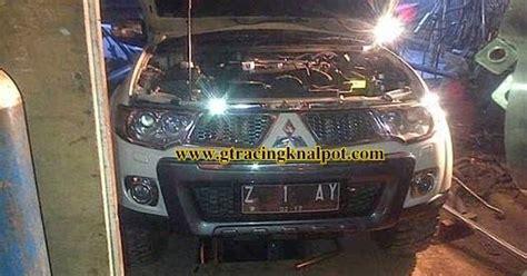 Downpipe Header Mobil Racing Mitsubishi Pajero modifikasi knalpot racing ganti downpipe pajero sport dakar