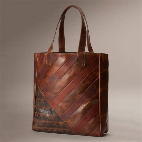 the frye company leather flag tote so that s cool