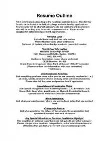 how to outline a resume sles of resumes