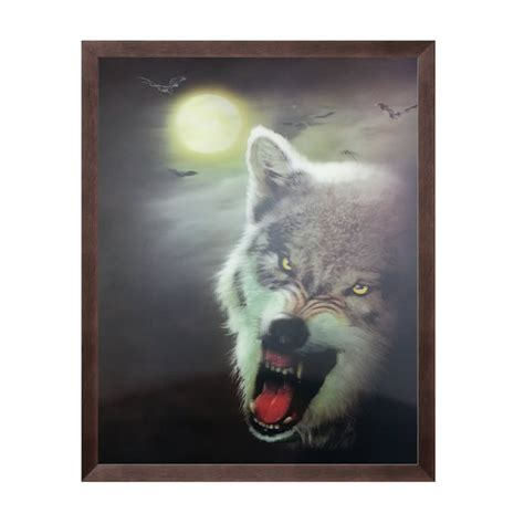 unicorn lenticular 3d picture animal poster painting home night and wolf lenticular 3d picture animal poster