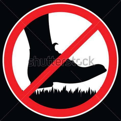 pas grass sign swinging ne pas marcher sur le signe de l herbe image vectorielle