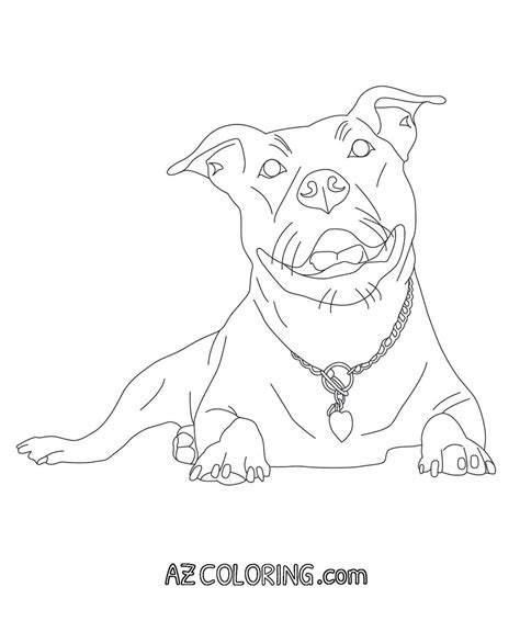 coloring pages of pitbulls coloring home