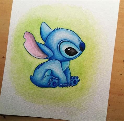 stitches painting disney s stitch lilo stitch watercolor painting etsy