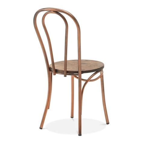 Thonet Bistro Chair Copper Thonet Style Metal Bistro Chair With Wood Seat Caf 233 Chairs