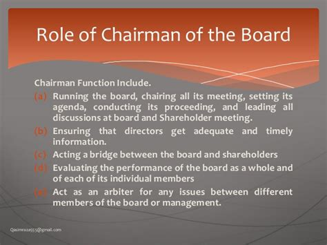chair of committee responsibilities what is the chairman s in a meeting mccnsulting