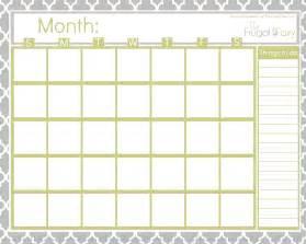 Free blank printable calendar the frugal fairy