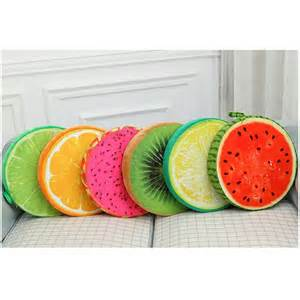 Orange Chair Covers 3d Creative Plush Foam Fruit Pillow Back Cushion Office