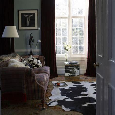 cowhide rug living room grey modern living room living room idea cow hide