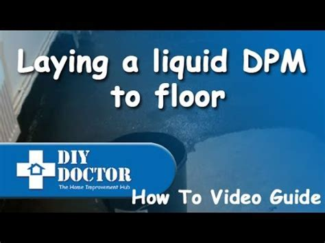 Waterproof and damp proof a concrete floor by laying a
