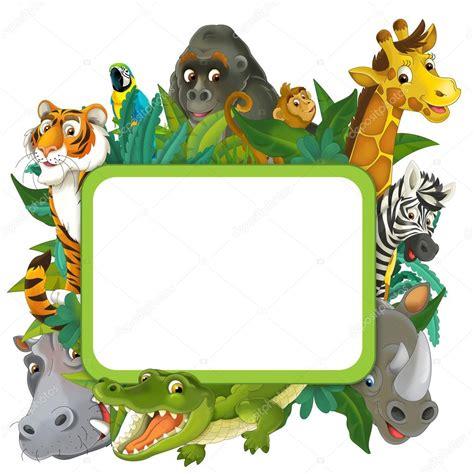 safari cartoon cartoon safari frame border stock photo 169 agaes8080