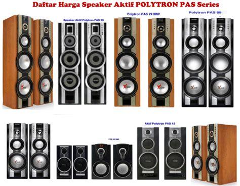 Speaker Aktif Polytron Spesifikasi harga speaker aktif polytron spesifikasi model pas