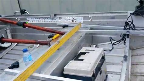 aluminum fishing boat videos upgrading my aluminium fishing boat 3 7m youtube