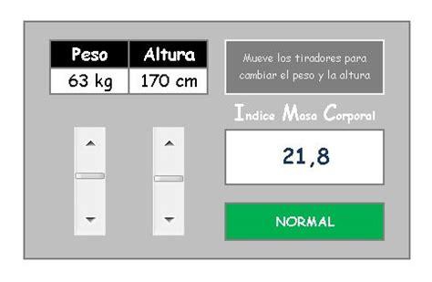 ofimatika calcular el indice de  corporal imc