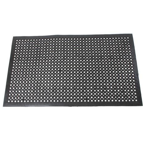 Anti Slip Floor Mats - 2pcs anti fatigue drainage rubber non slip floor mat bar