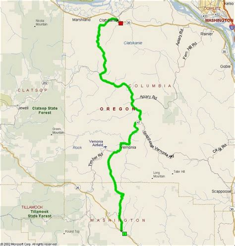 map of hwy 26 oregon oregon route 47 motorcycle roads northwest