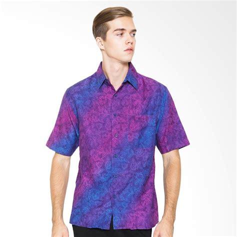 Kemeja Batik Pria Modern Slim Fit Lengan Pendek Hes 120 jual parama batik lengan pendek slim fit iris kemeja batik pria ungu harga kualitas