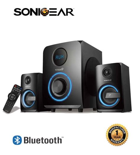 Sonic Gear Speaker Evo 9 Btmi Bluetooth Usb Fm Radio Garansi Resmi sonic gear titan 9 btmi bluetooth multimedia speaker
