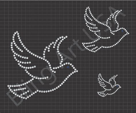 dove rhinestone download file template bling wedding art