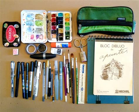 Drawing Supplies by Sketching Supplies That I Took To The Sketchers