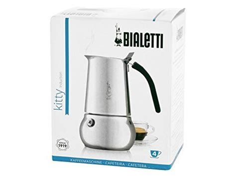 Bialetti Nera 4 Cup Silver 4 cups stainless steel moka espresso maker all