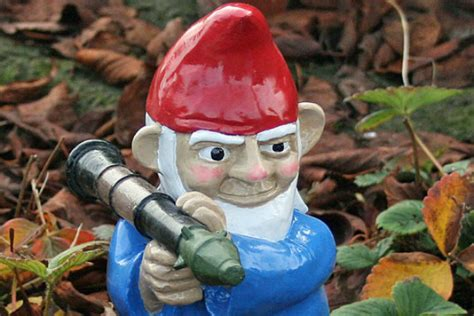 garden gnomes with guns prepper gnomes yes