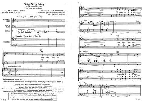 sing swing sing sing sing sing new york voices