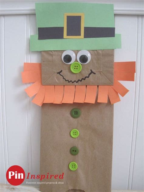 Leprechaun Paper Craft - paper bag leprechaun craft for so and easy to