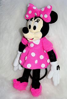 minnie mouse doll knitting pattern ravelry minnie pattern by laila saide